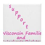 Support - Pink Tile Coaster