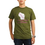 Support - Pink Organic Men's T-Shirt (dark)