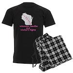 Support - Pink Men's Dark Pajamas
