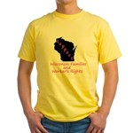 Support - Pink Yellow T-Shirt