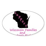 Support - Pink Sticker (Oval 10 pk)