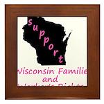 Support - Pink Framed Tile