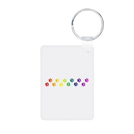 Paws All Over You Aluminum Photo Keychain