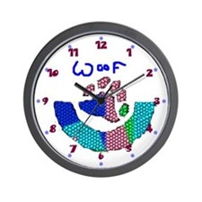 BEAR PAW_mosaic look multi colored WALL CLOCK