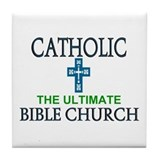 Catholic Bible Church Tile Coaster