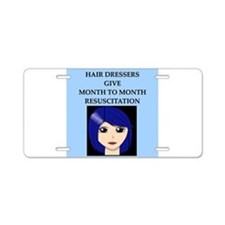 hairdresser beautician Aluminum License Plate