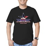 I Rallied - Flag Star Men's Fitted T-Shirt (dark)