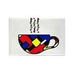 MONDRIAN COFFEE Rectangle Magnet (10 pack)
