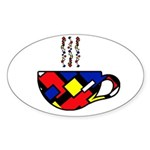 MONDRIAN COFFEE Sticker (Oval)
