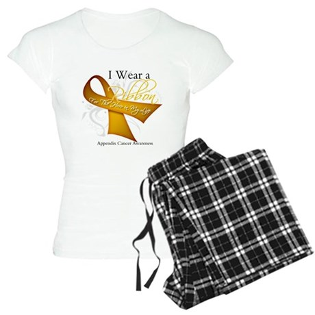 Ribbon Hero Appendix Cancer Women's Light Pajamas