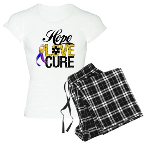 Hope Love Cure Bladder Cancer Women's Light Pajama