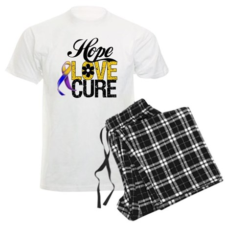 Hope Love Cure Bladder Cancer Men's Light Pajamas
