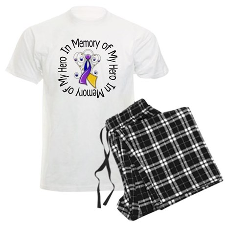 In Memory - Bladder Cancer Men's Light Pajamas