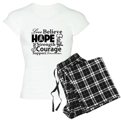 Brain Cancer Hope Collage Women's Light Pajamas