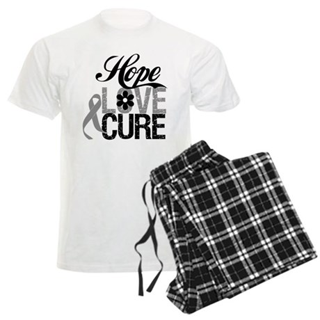HopeLoveCure Brain Cancer Men's Light Pajamas