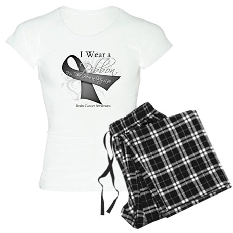 Brain Cancer Hero Ribbon Women's Light Pajamas