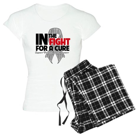 In The Fight Brain Cancer Women's Light Pajamas