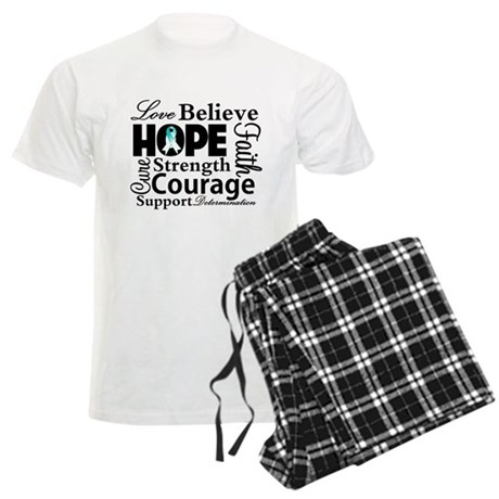 Cervical Cancer Hope Collage Men's Light Pajamas