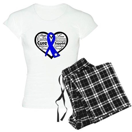 Heart Collage Colon Cancer Women's Light Pajamas