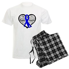 Heart Collage Colon Cancer Men's Light Pajamas