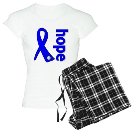Hope Ribbon Colon Cancer Women's Light Pajamas