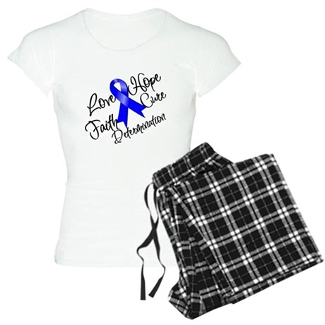 Love Hope Colon Cancer Women's Light Pajamas