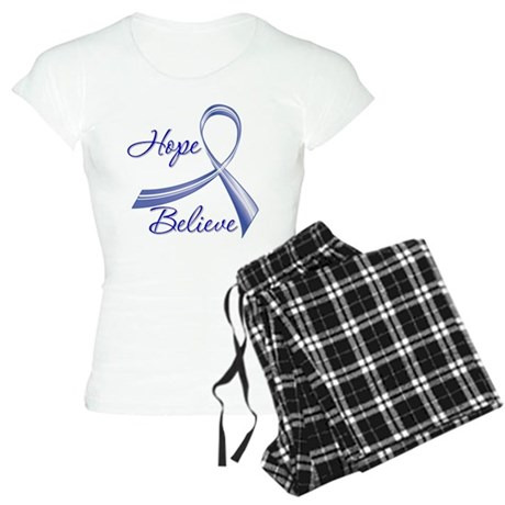 Hope Believe Colon Cancer Women's Light Pajamas