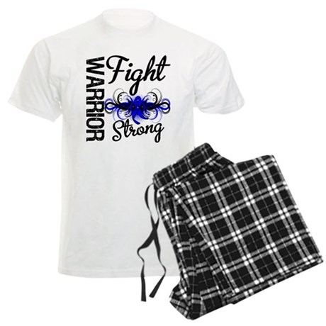 Warrior Colon Cancer Men's Light Pajamas