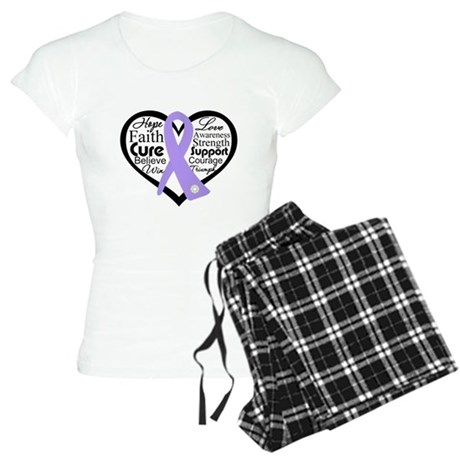 General Cancer Heart Women's Light Pajamas