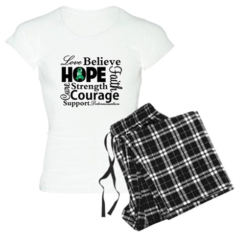 Liver Cancer Hope Collage Women's Light Pajamas