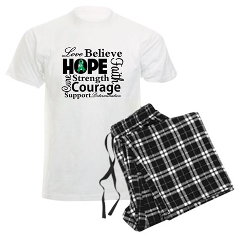 Liver Cancer Hope Collage Men's Light Pajamas