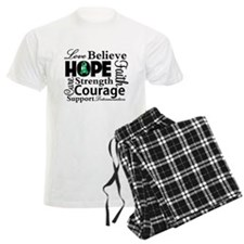 Liver Cancer Hope Collage Pajamas
