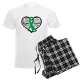 Liver Cancer Heart pajamas