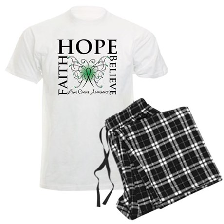 Faith Hope Liver Cancer Men's Light Pajamas
