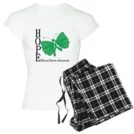 Hope Butterfly Liver Cancer Women's Light Pajamas