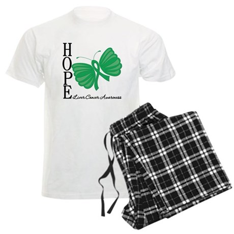 Hope Butterfly Liver Cancer Men's Light Pajamas