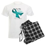 For My Hero Ovarian Cancer Men's Light Pajamas