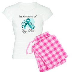 In Memory Hero Ovarian Cancer Women's Light Pajama