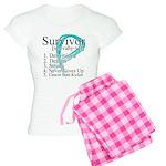 Survivor Ovarian Cancer Women's Light Pajamas