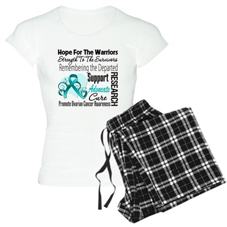 Hope Tribute Ovarian Cancer Women's Light Pajamas