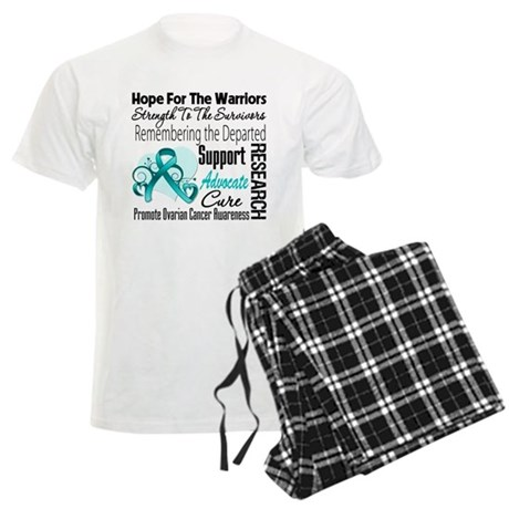Hope Tribute Ovarian Cancer Men's Light Pajamas