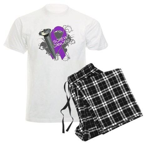 Screw Pancreatic Cancer Men's Light Pajamas