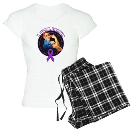 I Will Fight Pancreatic Cance Women's Light Pajama