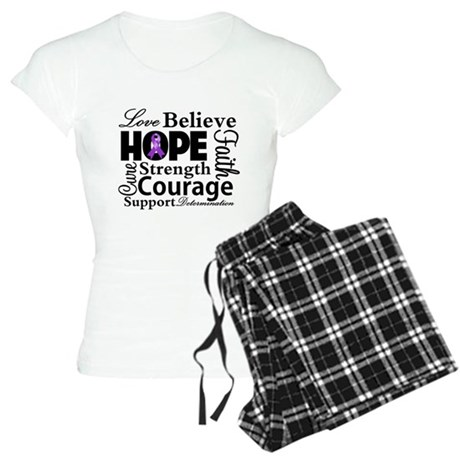 Pancreatic Cancer Hope Women's Light Pajamas