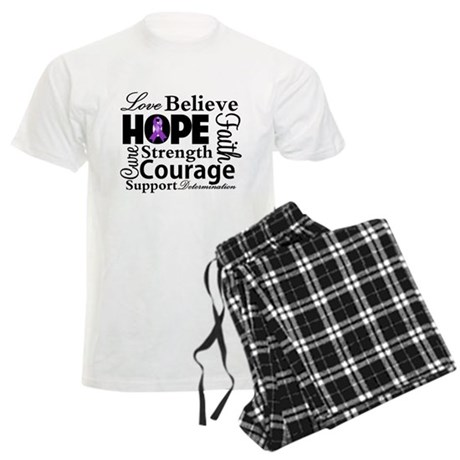 Pancreatic Cancer Hope Men's Light Pajamas