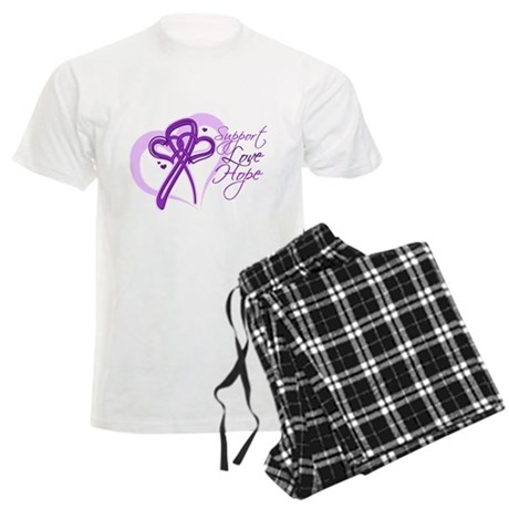 Heart Pancreatic Cancer Men's Light Pajamas