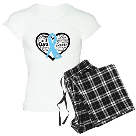 Prostate Cancer Heart Women's Light Pajamas