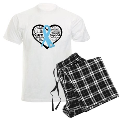 Prostate Cancer Heart Men's Light Pajamas