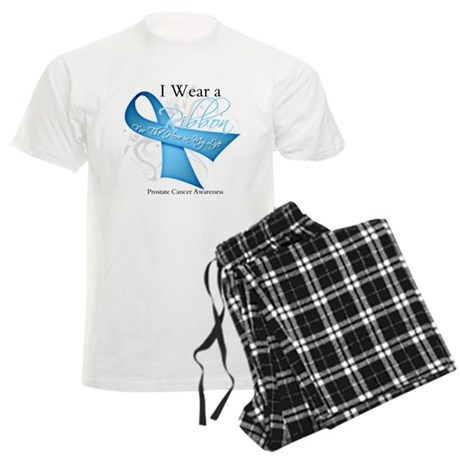 I Wear Ribbon Prostate Cancer Men's Light Pajamas