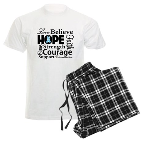 Prostate Cancer Hope Collage Men's Light Pajamas